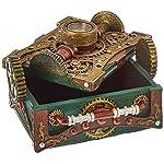 Steampunk Trinket / Jewelry Box Steam Punk W/ Compass 7