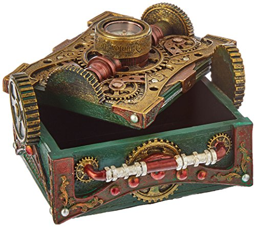 Steampunk Trinket / Jewelry Box Steam Punk W/ Compass 4