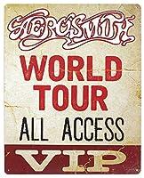 アメリカ雑貨 ブリキ看板 メタルサイン エアロスミス Aerosmith VIP 店舗装飾 壁面ディスプレー サインプレート インテリア ガレージ ポスター ブリキ 看板 おしゃれ