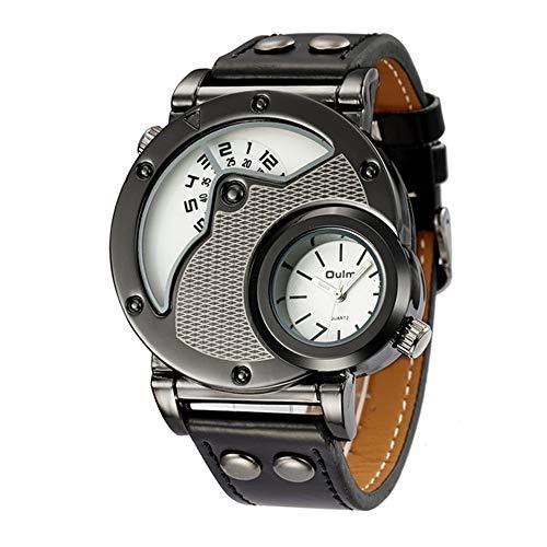 YIBOKANG Personalidad Creativa para Hombres Deportes Doble Core Multi-Time Impermeable Reloj De Cuarzo Moda Reloj De Regalo De Multifunción Casual (Color : 5)