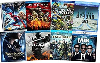 Ultimate Action & Adventure 8-Movie Blu-ray 3d Collection: Amazing Spider-Man 3 / Men in Black 3 / Percy Jackson: Sea of M...