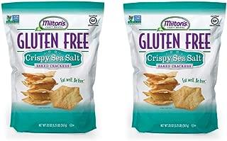 Milton's Gluten Free Crackers (Crispy Sea Salt). Crispy & Gluten-Free Grain Baked Crackers (Pack of 2, 20 oz).