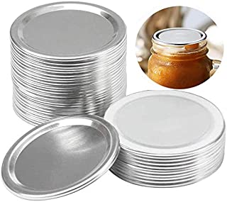 24 Pack Regular Mouth Mason Jar Canning Lids, Replacement Split-Type Lids with Silicone Seals Rings