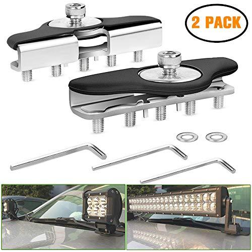 YGL 2pcs Universal Montaje de Barra de Luz de Trabajo LED Soporte para Camión/Barco/Autobús/ATV/SUV