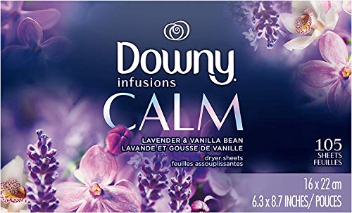 Downy Infusions Fabric Softener, Lavender Serenity, 105 Little Sheets (Pack of 2)