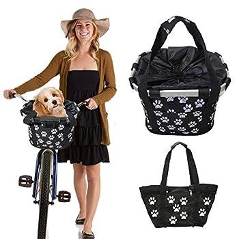 Panier de vélo, panier de guidon de vélo amovible, petit sac de transport pour chien