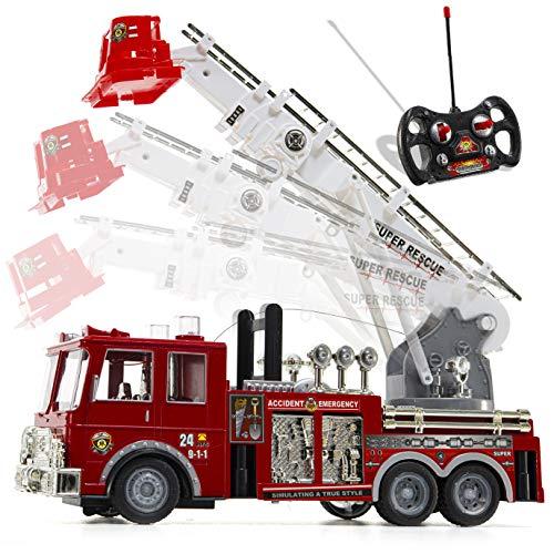 Camión de bomberos de radio control Prextex,...