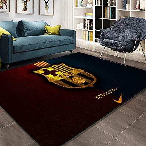 CXJC Manchester United Real Madrid Club Logo Tide Muestra de la sala de estar Dormitorio de noche Mat, Barcelona, AC Milan Fútbol Imagen del logotipo de alfombras, Hogar del bebé Escalada Mat, Cryst