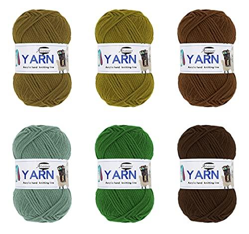 Lana de ganchillo de lana para tejer, acrílico, juego de hilo de...