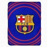 Manta de forro polar oficial del FC Barcelona (La Liga) (100% poliéster y 120 cm x 150 cm)