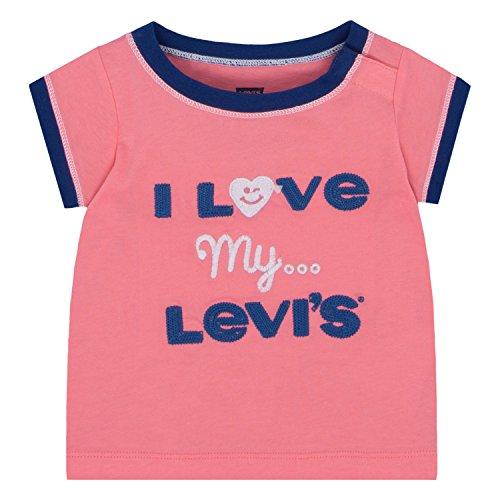 Levi's Baby Girls' Graphic T-Shirt, Strawberry Pink, 6/9M