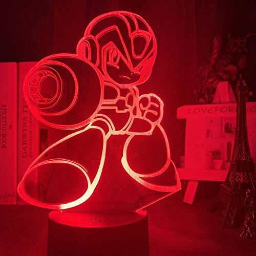 3D Illusion Lampe Led Nachtlicht Spiel Mega Man Figure Kid Touch Sensor Buntes Rockman Geschenk Für Kinderzimmer Tischlampe Megaman Kinderschlaflampe Das Beste Geschenk Für Kinder