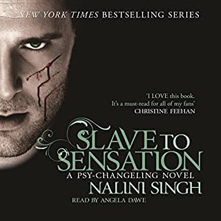 Slave to Sensation     Psy-Changeling, Book 1              By:                                                                                                                                 Nalini Singh                               Narrated by:                                                                                                                                 Angela Dawe                      Length: 9 hrs and 37 mins     97 ratings     Overall 4.6