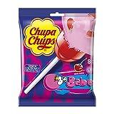 Chupa Chups Lecca Lecca Bubblegum, Maxi Lollipop Gusto Ciliegia con Ripieno Bubble Gum, se...