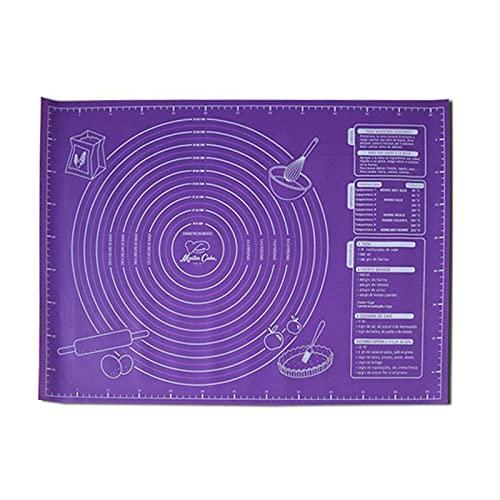 WGDPMGM Alfombrilla para Hornear Pan para Hornear Antiadherente de 45x60cm, Estera para Hornear, Estera de Silicona, Accesorios de Cocina, Postre de Pastel, Estera para Hornear (Color : Purple)