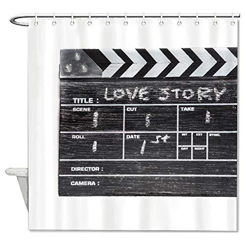 Mesllings douchegordijnen - Love Story Action Polyester stoffen badkamerdecoratieset met haken