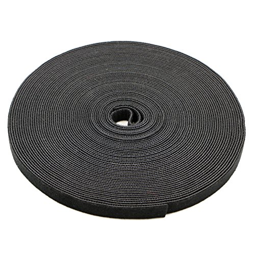 Pasow fastening tape Cable Tie Double Side Nylon Power Wire Management 3/4Inch 1 Roll Hook 25 Yards Style 1