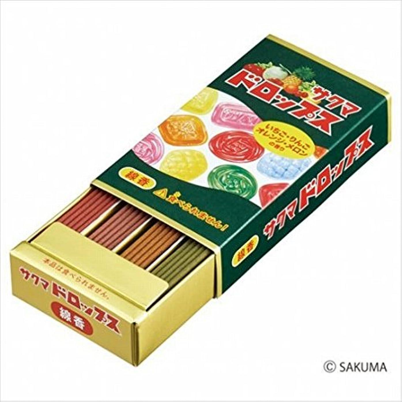 贈り物メロディアスプットカメヤマキャンドル(kameyama candle) サクマドロップスミニ寸線香