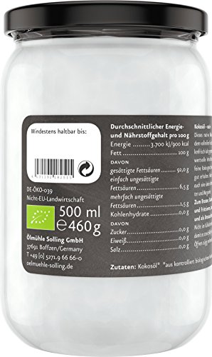 Ölmühle Solling Bio Kokosöl im Glas 500ml - 7