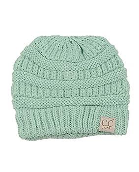 C.C NYFASHION101 Kids Cute Warm and Comfy Children s Knit Ski Beanie Hat Mint