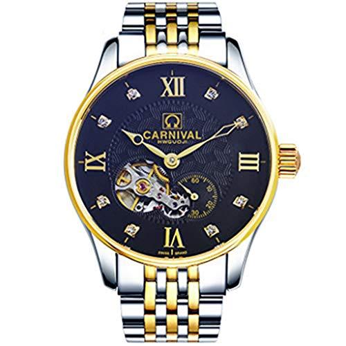 Carnival Reloj De Los Hombre De Acero Inoxidable Mecánicos En Relieve 39mm Hueco Dial De Cuerda Automática, De Visita Simple De B