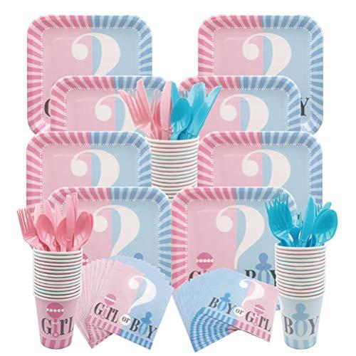 teyiwei Baby Gender Reveal Baby Theme Party Baby Shower Supplies Globo Rosa O Azul Confeti Vacaciones Juguete Ornamental Set para Decoración Celebración