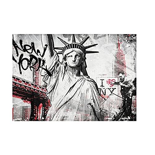 Sanguolun Cuadros Decorativos Pinturas artísticas de la Estatua de la Libertad en la Pared, Carteles artísticos e Impresiones, imágenes artísticas de la Estatua de la Libertad, Sala de Estar 60x90cm