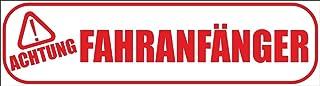 INDIGOS UG   Magnetschild Achtung !   Fahranfänger 30 x 8 cm   Magnetfolie für Auto/LKW/Truck/Baustelle/Firma