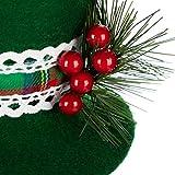 com-four® Schneemann Figur Größe XL, süße Weihnachtsdeko, optimal als Tischdeko zur Adventszeit, schöne Dekofigur für Innen, 42,5 cm (grün-weiß - XL) - 5