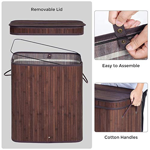 Divided Laundry Hamper with Lid