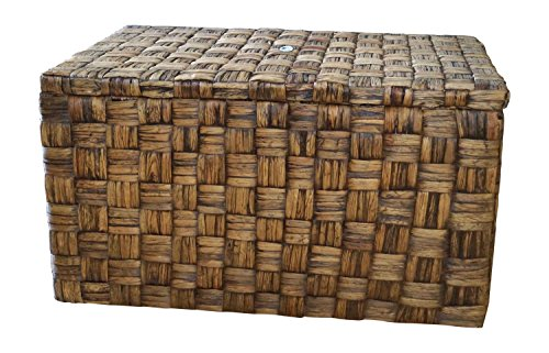 Casa Mina 123511055 Truhe Wäschetruhe aus Wasserhyazinthe Borneo braun 55cm