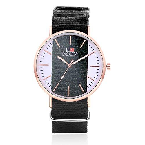 Herren kreative transparente Leinwand Uhren Sportuhren , black