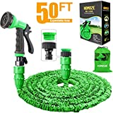 "HOMOZE Garden Hose Pipe 50 FT Expandable Garden Hose with 3/4"", 1/2"" Fittings"
