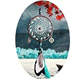 Dream Catcher Blue Black White Feather Handmade Wall Hanging Ornaments Girls Kids Bedroom