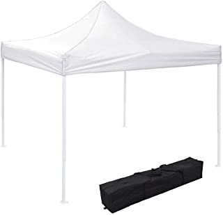 Instahibit 10x10 EZ Pop Up Canopy Tent Outdoor Party Instant Shelter Portable Folding Canopy with Carry Bag, White