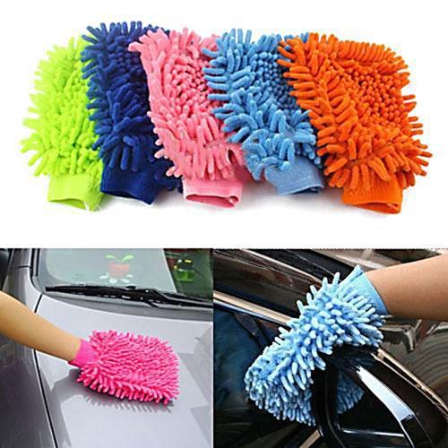 Preisvergleich Produktbild Reinigung Handschuh Mikrofaser Reinigungshandschuh Putzhandschuh Auto KFZ
