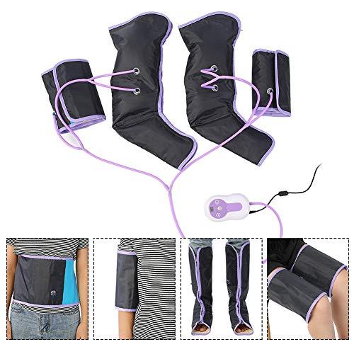 Qkiss Massaggiatore Gambe Massaggiatore a Compressione Massaggiatori Elettrici per Caviglia e Polpaccio, 9 Modalità per Casa e Ufficio(EU)