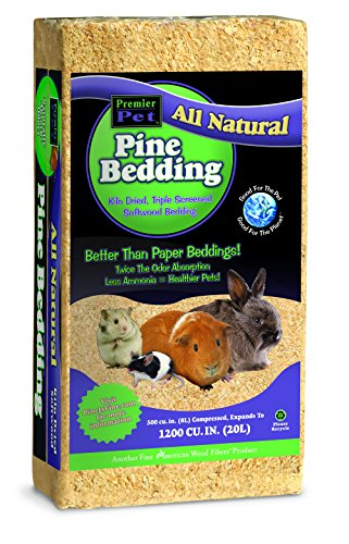 Pet's Pick Pine Bedding, 1200 cu in great for PETS like GUINEA-PIGS, RATES, RABBITS that like to tunnel and nest
