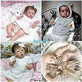 Zero Pam Muñecas Reborn sin Pintar 50cm-55cm Kits de muñecas Reborn para niños pequeños (sin características de género) Incluye muñeca DIY (extremidades, Cabeza, Cuerpo y Ojos) (2003 Ojo marrón)