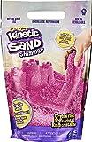 Kinetic Sand - Bolsa de Arena Brillante Totalmente Natural para Aplastar, Mezclar y moldear - Rosa cristalino, 907g