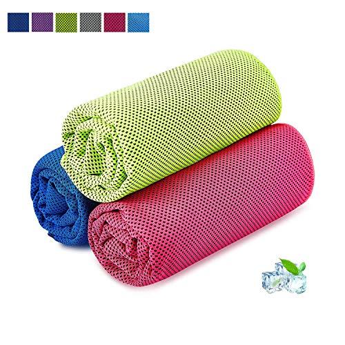 Kühlhandtuch Cooling Towel Cool Towel Kühlendes Handtuch Kühl Handtuch Kühltuch Set Bambus Kühltuch Golf Handtücher Microfaser Handtuch Strandhandtuch Fitness Handtuch Sport 100 x 30cm