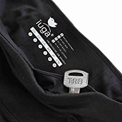 IUGA Yoga Pants with Pockets, Tummy Control, Workout Running Leggings with Pockets for Women, Black I840, S #5