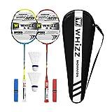 Whizz Kratzfestes Design Carbon Badminton Set Schläger Racket Ultraleicht Graphit 2 STK mit