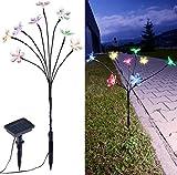 Lunartec Ostern: Solar-LED-Lichterstrauch mit 8 Blüten und Erdspieß, multicolor, 50 cm (Solar Blumen)