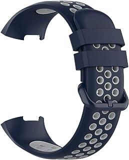 DALIN - Cinturino in silicone bicolore per orologio Fitbit Charge 3/3SE/4/4SE