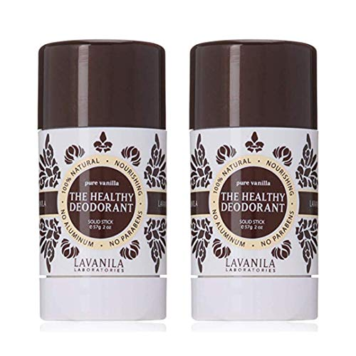Lavanila Natural Aluminum-Free Deodorant. The Healthy Deodorant Pure Vanilla Set (Pack of 2)