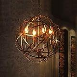 Ruanpu Vintage Plafond Éclairage Bougie Lustre Pendentif Lumière Industrielle E14 socket avec...