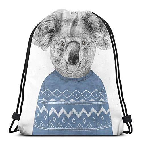 Mochila de invierno Koala Variedad Cara Toalla Con Cordón Mochila Deportiva Bolsa de Gimnasio Estilo 3