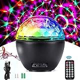 AlfaView 16 Colores Luces Discoteca con Altavoz Bluetooth, Bola LED de Fiesta USB Efecto LED Escenario Luces con Mando a Distancia para Cumpleaños KTV Boda Bar Fiesta Niños DJ Boda Bar Navidad