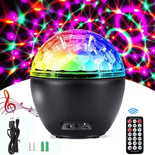 AlfaView 16 Colores Luces Discoteca con Altavoz Bluetooth, Bola LED de Fiesta...